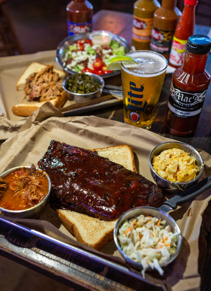 While in Greensboro, stop by Mac's Speed Shop for barbecue platters and draft beers. The restaurant, located at 1218 Battleground Ave., is just a 10-minute drive from the Greensboro Science Center.