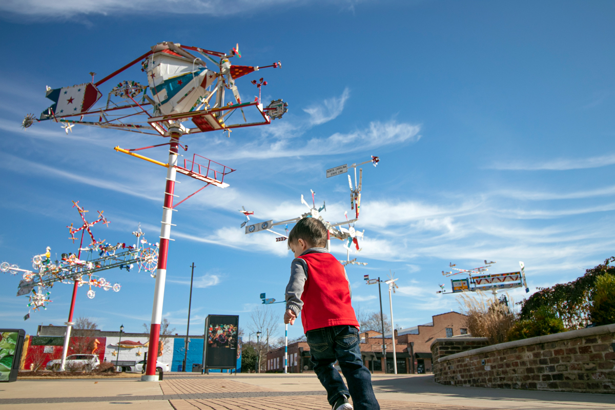 Wilson's Vollis Simpson whirligig park, funded in part by the National Endowment for the Arts, hosts concerts, festivals and events, in addition to its 30 whirligigs.